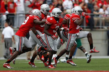 Doran Grant leads Buckeye celebration against UAB.