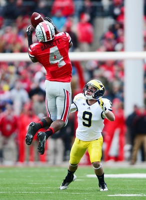 C.J. Barnett seals Buckeyes' win over Michigan and undefeated season with interception.