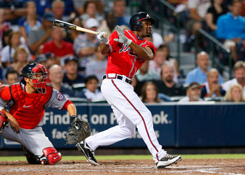 Michael Bourn's second half slump hurt the Braves down the stretch.