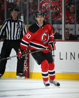 Peter Harrold played in 17 playoff games for the Devils last season.