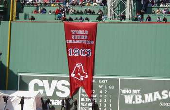 Banner for the 1903 World Series Champion Red Sox.