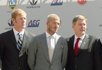 Beckham's Galaxy signing was announced in 2007