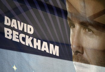 One of many Beckham banners