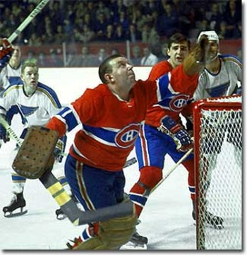 Gump Worsley was one of the last NHL goalies not to wear a mask.