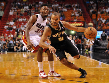 Tony Parker's quickness presents problems for the Heat.