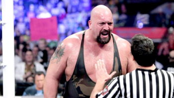 A loss in a career match would likely omit this reaction of shock. (Photo Credit: WWE.com)