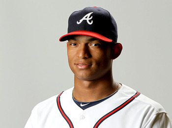 LAKE BUENA VISTA, FL - FEBRUARY 29: Christian Bethancourt of the Atlanta Braves poses for a portrait during photo day at Champion Stadium on February 29, 2012 in Lake Buena Vista, Florida.  (Photo by Matthew Stockman/Getty Images)