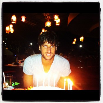 Feliciano Lopez celebrates his birthday: a photo from his twitter page
