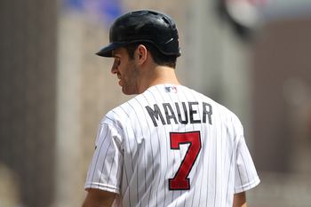 Mauer jerseys would fly off the shelves in Boston.