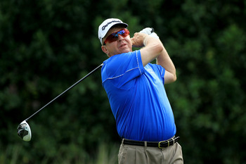 Billy Mayfair returned to golf just two weeks after having surgery on his cancer.