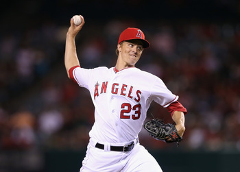 Greinke started 13 games for the Los Angeles Angels last season.