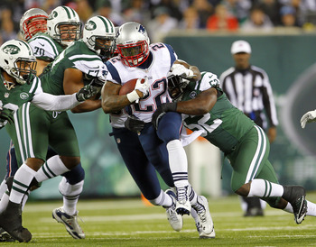 Stevan Ridley continues to break away from defenses.