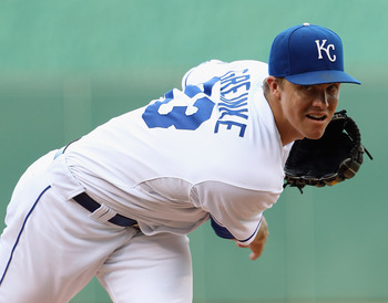 Greinke began his professional career with the Kansas City Royals.