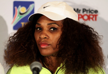 Uh, oh. Serena does NOT look happy with that question.