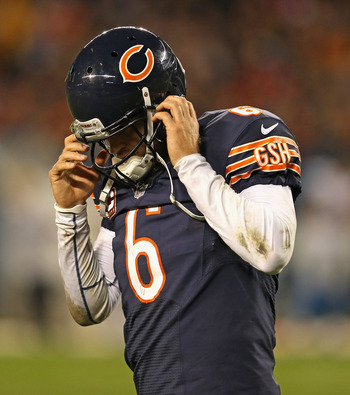 Jay Cutler is having none of whatever it is you're talking about.