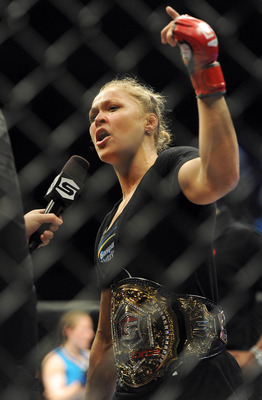 Ronda Rousey is the baddest chick in MMA. Don't believe it? Just ask her.