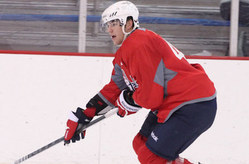 Tom Wilson at the Capitals 2012 Development Camp (Chris Gordon)