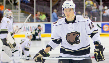Stanislav Galiev with the Hershey Bears, during the 2012-13 AHL season (Kyle Mace)