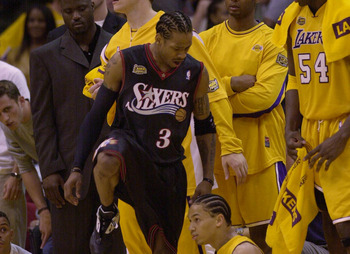 Allen Iverson had no problem stepping over his competition.