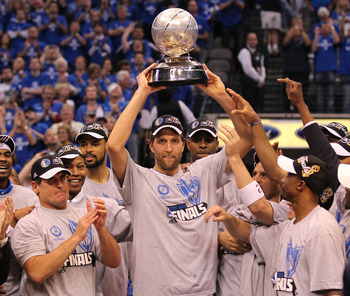 Dirk Nowitzki joins this list thanks to his title in 2011.