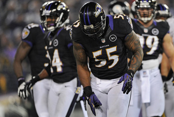 Terrell Suggs, linebacker of the Baltimore Ravens.