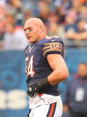 Brian Urlacher, linebacker of the Chicago Bears.
