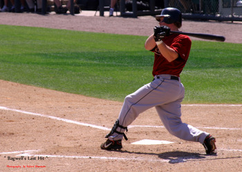 Jeff Bagwell's Last Hit in a Major League Uniform - Photography by Robert Bluestein