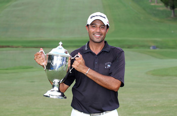 Arjun Atway won the 2010 Wyndham Championship