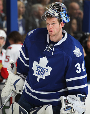 James Reimer of the Toronto Maple Leafs.