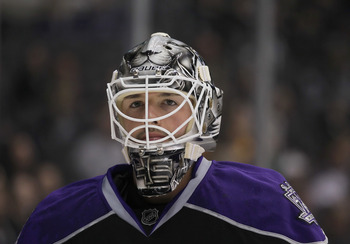 Jonathan Bernier of the Los Angeles Kings.