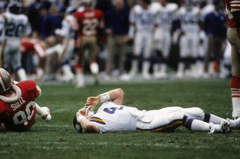 Archie Manning was just the first Bayou QB to end his career as a Minnesota Viking in great pain.