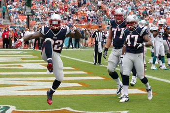 Stevan Ridley was able to knock down the door.