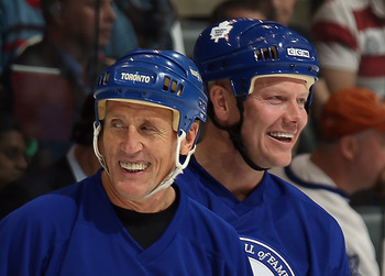 Borje Salming with Mats Sundin