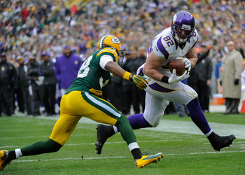 Kyle Rudolph caught six passes for 51 yards and a TD against Green Bay.