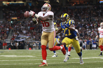 This dropped pass by Walker was a key play in the 49ers' loss.