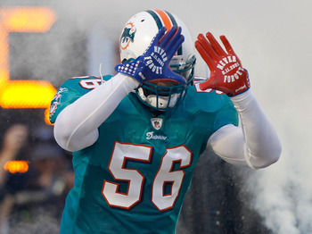 Seriously Getty Images? No pictures of a Dolphins linebacker in your library from today's game?