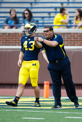 Will Hagerup (43) and Brady Hoke