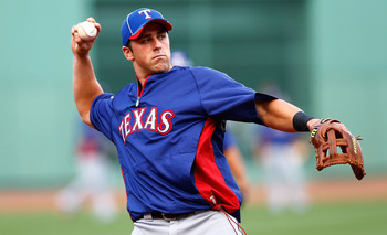 Prospects like Mike Olt (Pictured) have gotten in the way of Nate Freiman getting a chance in the big leagues.