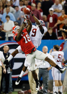 Georgia's Bacarri Rambo likes to catch balls not intended for him