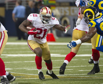 Frank Gore started the game well, but couldn't find any running lanes as the game progressed.