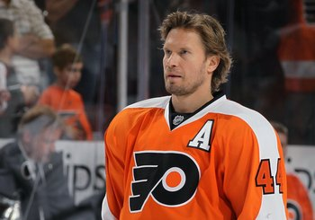 Philadelphia's Kimmo Timonen could miss out on the final year of his contract.