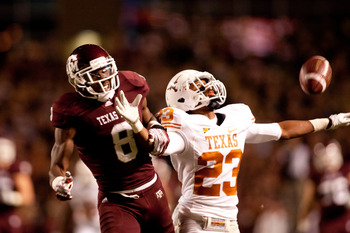 Texas' Carrington Byndum would provide depth at CB.