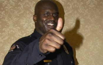 Shaq approves this career choice. (Photo Credit: Deadspin.com)