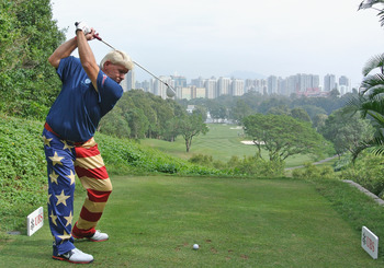 John Daly still has the long backswing and long-distance drives.