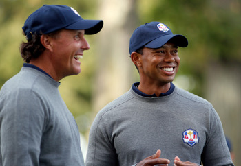 Phil Mickelson, Tiger Woods had a brief, but productive trip to the Greenbrier.