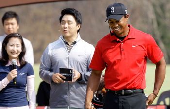 Tiger Woods and his Nike gear in South Korea.