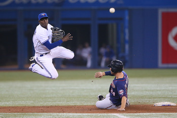 Adeiny Hechavarria, seen here with the Toronto Blue Jays, is expected to be the Marlins shortstop in 2013.