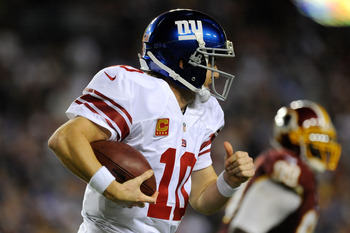 Eli Manning's Giants await the Ravens two games after they take on RGIII in Washington