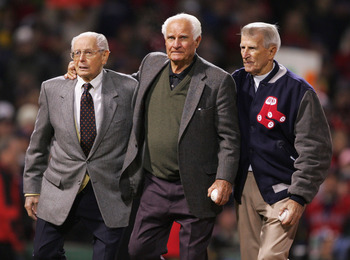 "With Ted Williams, Doerr, Dom DiMaggio, and Johnny Pesky were the fabled ""Teammates"""