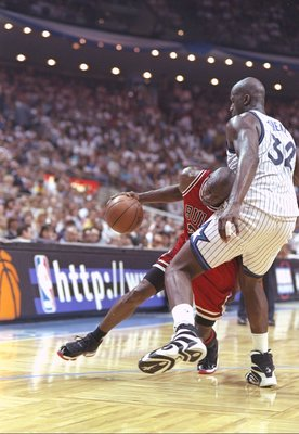 Shaq stood in Jordan's way in 1995.